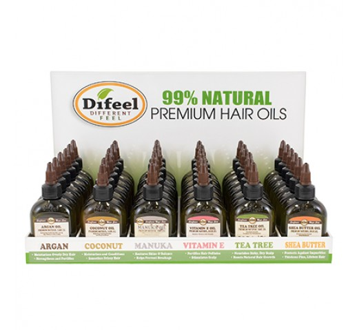 Difeel Premium Hair Oils Display 36 Piece